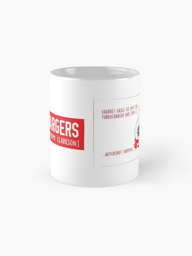 Alternate view of How Turbochargers work: by Jeremy Clarkson (red version) Mug