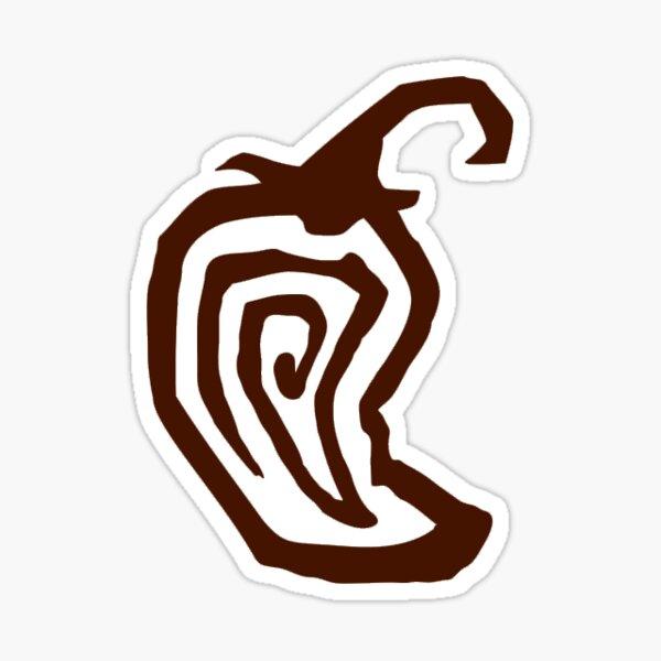 Chipotle Pepper Logo Sticker Inverted Sticker