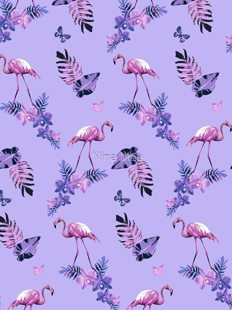 Lavender Flamingo Toille by ninabmay