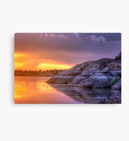 Sunset vs Rock Canvas Print