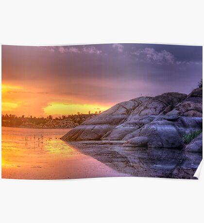 Sunset vs Rock Poster