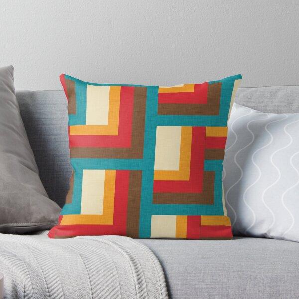 Abstract  Mid Mod Cube  #midcenturymodern Throw Pillow