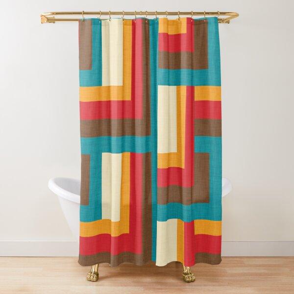 Abstract  Mid Mod Cube  #midcenturymodern Shower Curtain