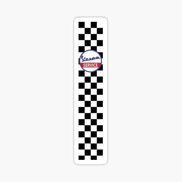 Vespa Service Servizio Scooter Chequered Flag Check Sticker