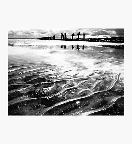 Lines in the sand (beach near geelong) Photographic Print