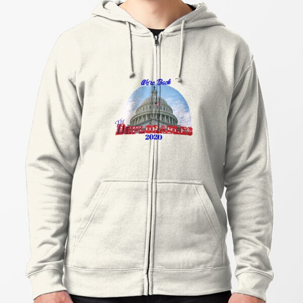 We're Back The Deplorables 2020 Zipped Hoodie