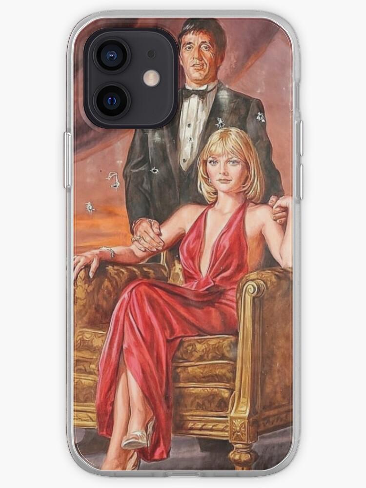 Tony Montana et Elvira Hancock | Coque iPhone