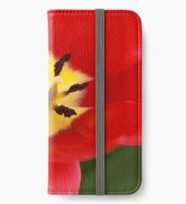 Red Tulip Blossom iPhone Wallet/Case/Skin