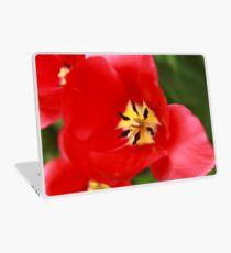 Red Tulip Blossom Laptop Skin