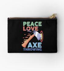 Peace Love Axe Throwing Zipper Pouch