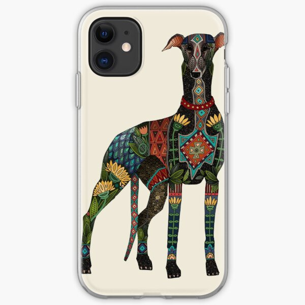 greyhound ivory iPhone Soft Case