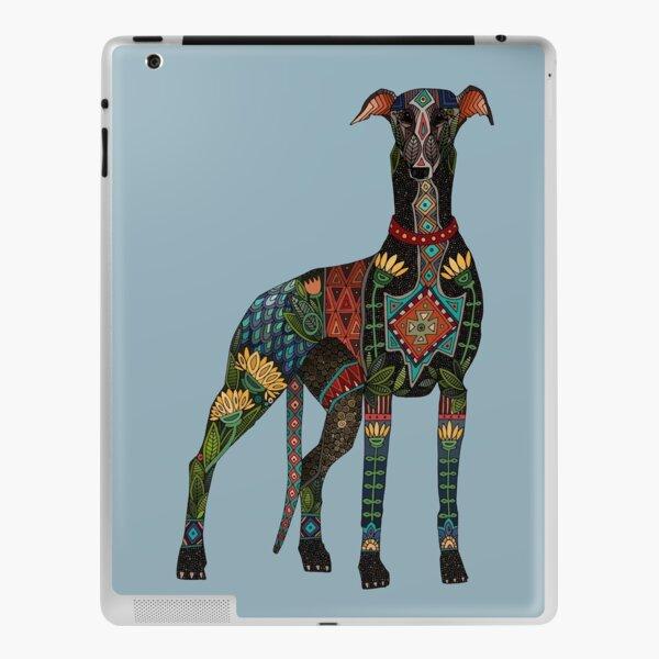 greyhound azure blue iPad Skin