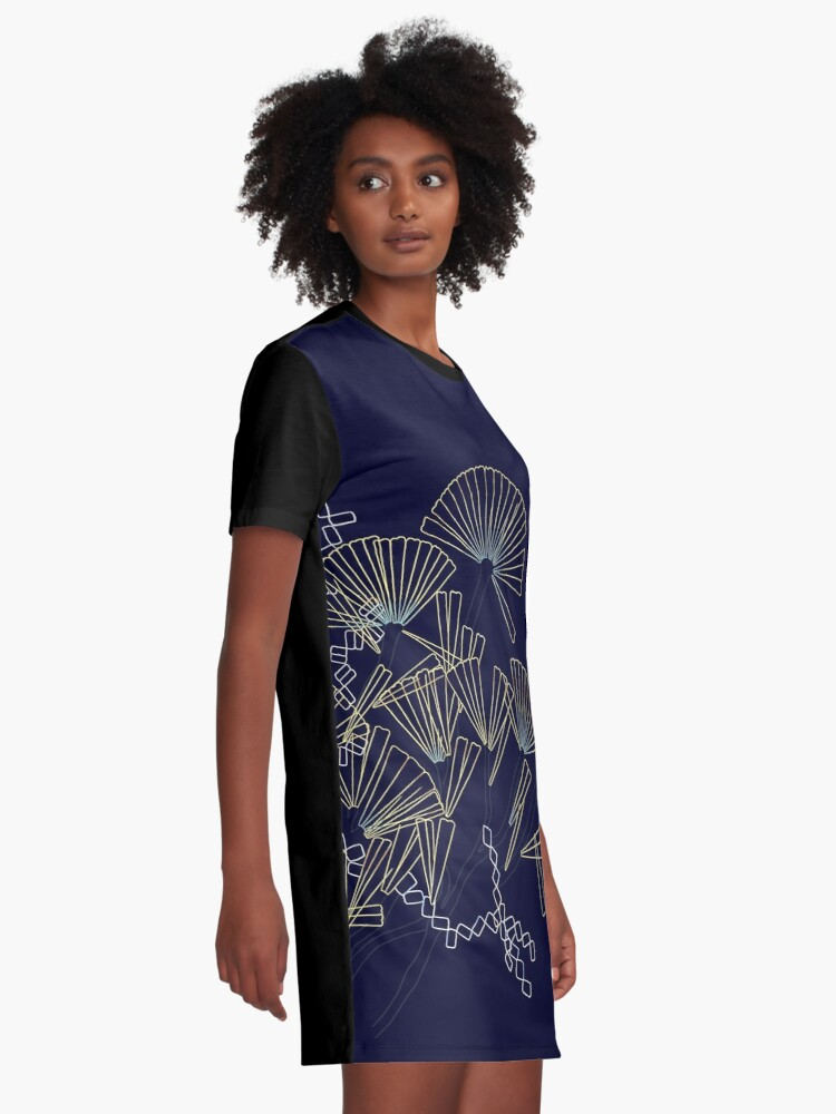 Alternate view of Licmophora - naive diatoms Graphic T-Shirt Dress