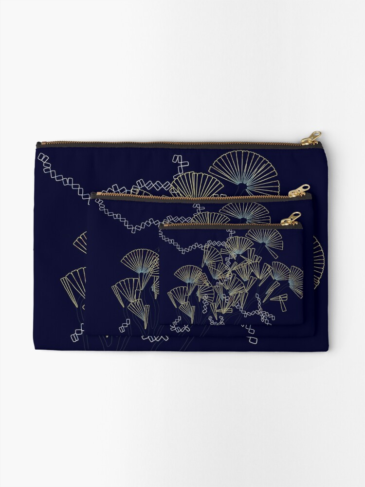 Alternate view of Licmophora - naive diatoms Zipper Pouch