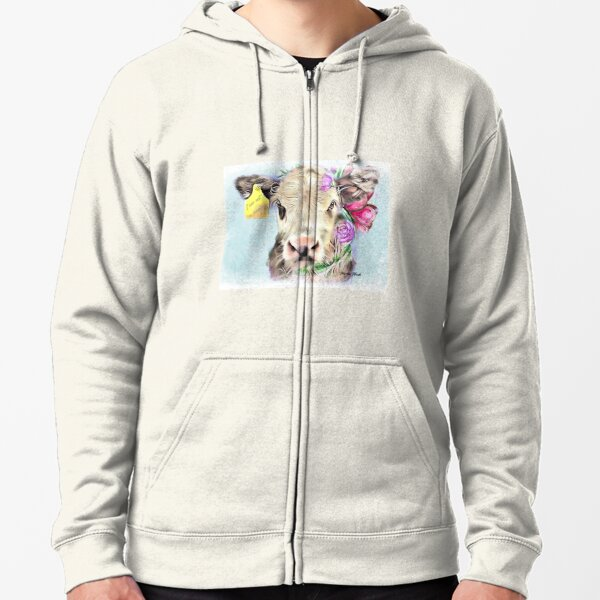 Happy cow Zipped Hoodie