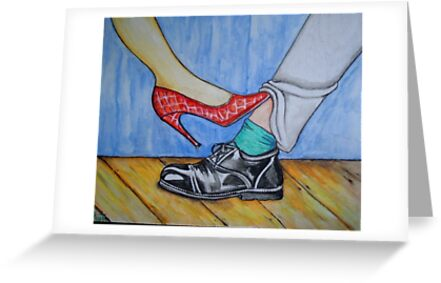 Playing Footsie by Anni Morris