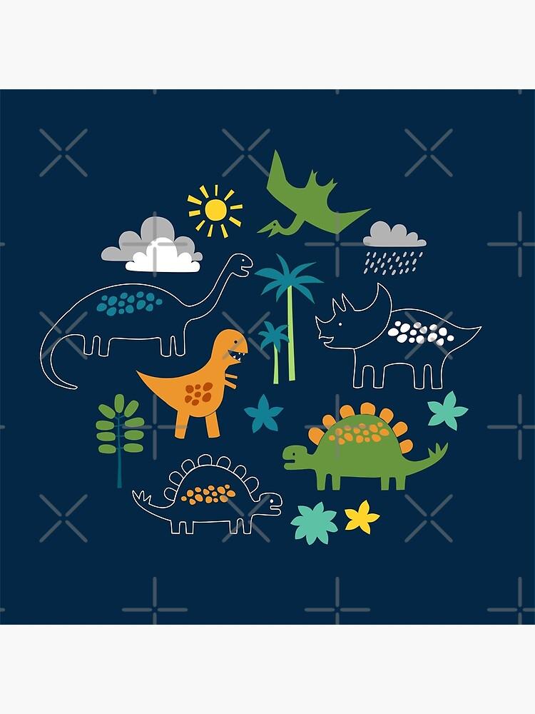 Dinosaur Land - cute Dino pattern by Cecca Designs by Cecca-Designs