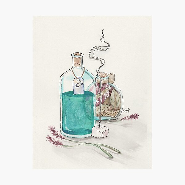 Witchy Bottles Photographic Print