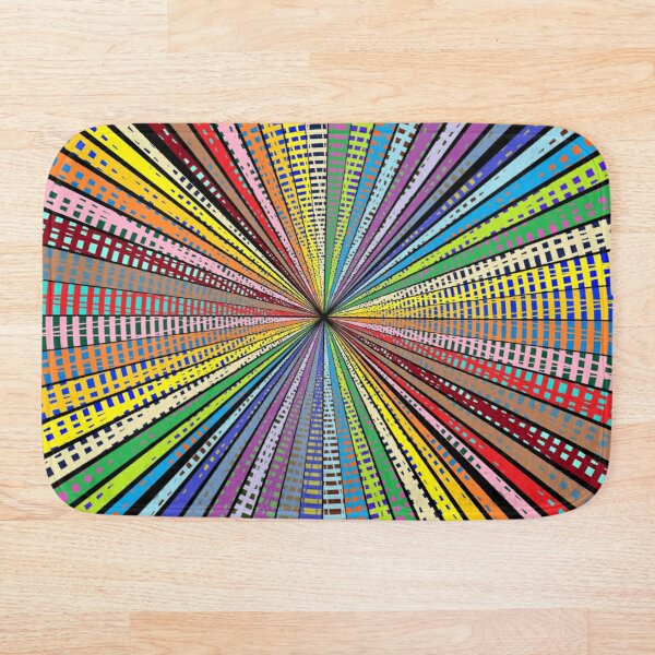 #Design, #abstract, #pattern, #illustration, psychedelic, vortex, modern, art, decoration Bath Mat