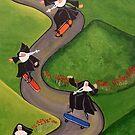 Skateboarding Nuns by Anni Morris