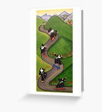 Skateboarding Nuns Grußkarte