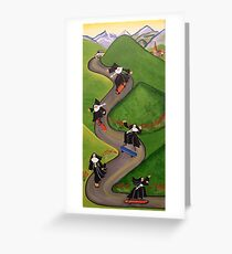 Skateboarding Nuns Greeting Card