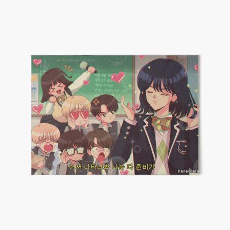 BTS - Yoonji 90's anime Art Board Print