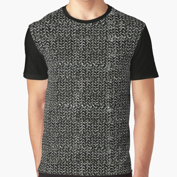 Metal Chainmail Medieval  Halloween Costume Knight's Armor Art Graphic T-Shirt