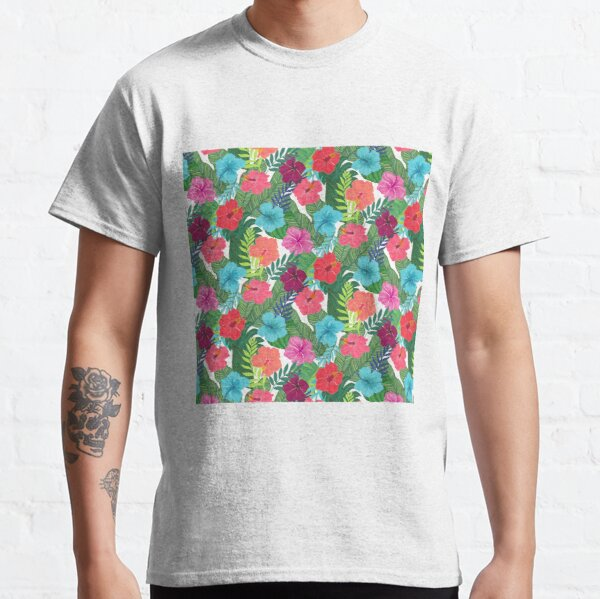 Tropical Flowers Classic T-Shirt