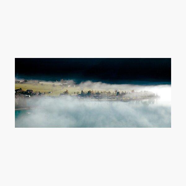 Autumn mists, Brienz, Switzerland Photographic Print