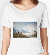 Looking at the Himalayas Women's Relaxed Fit T-Shirt