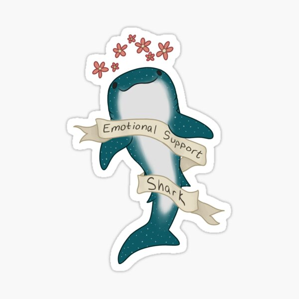 Emotional Support Shark Sticker