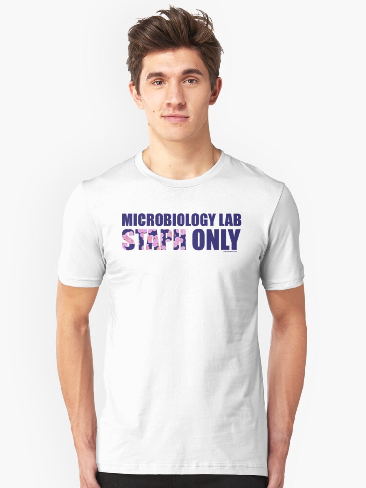 Microbiology Lab - Staph Only (Blue / Pink) by sciencemerch