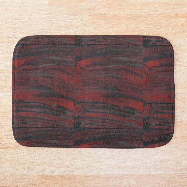 Gray/Black/Red Smear Bath Mat