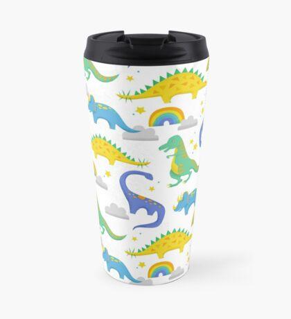 Dinosaurs + Rainbows  Travel Mug