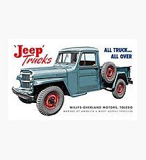 Jeep Trucks Photographic Print