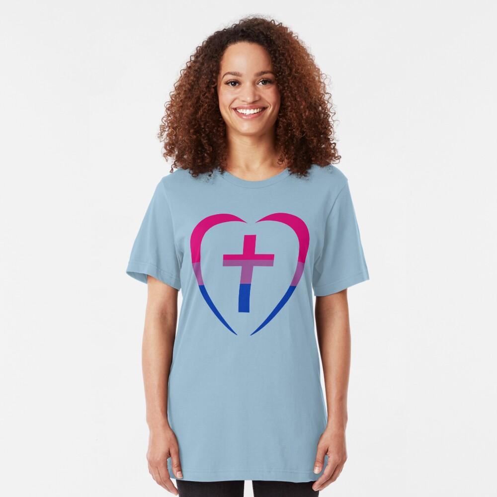 Christian Heart (Pink, Purple, Blue) Third Culture Series Slim Fit T-Shirt