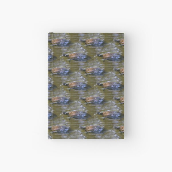 turtle swimming at Trojan pond, near Goble, Oregon 2 pattern Hardcover Journal