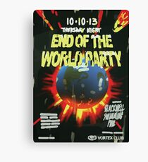 Vortex Club - End of the World Vortex Club Poster  Canvas Print