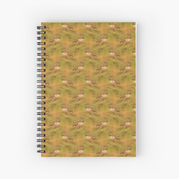 ducks feeding at Trojan pond, near Goble, Oregon pattern Spiral Notebook