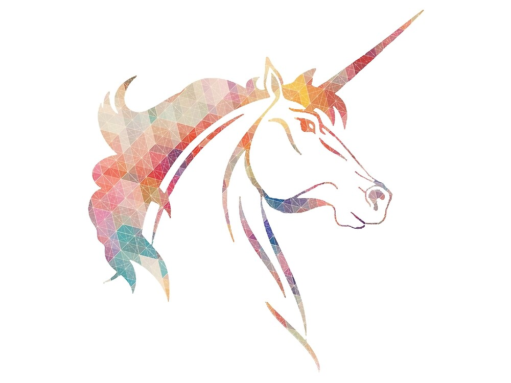 Unicorn - Geometric by paperbouquet