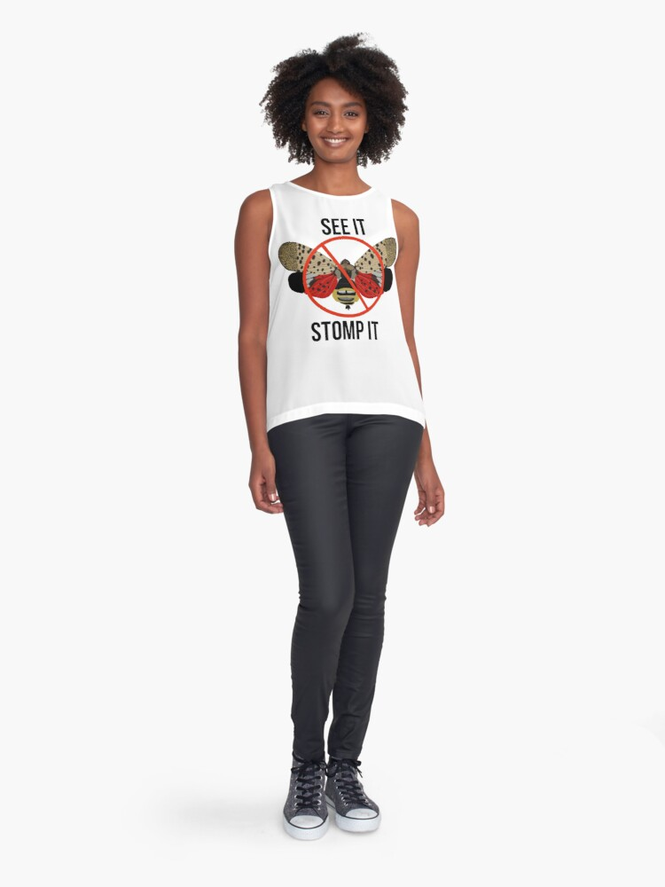 Alternate view of Spotted Lanternfly See It Stomp It Sleeveless Top