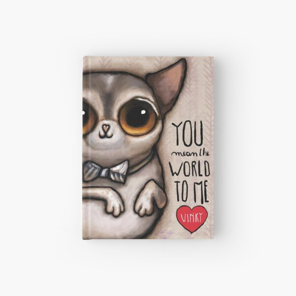 Little dog with big eyes chihuahua Hardcover Journal