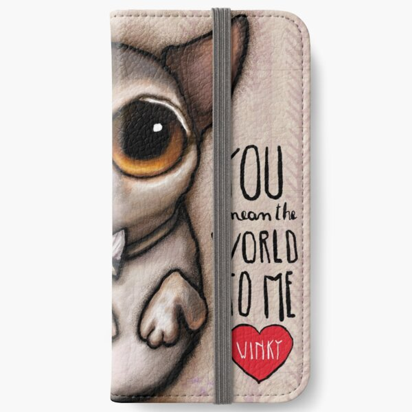 Little dog with big eyes chihuahua iPhone Wallet