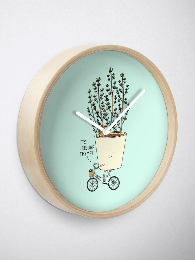 Alternate view of Leisure thyme Clock