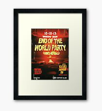 Vortex Club - Another End of the World Vortex Club Poster Framed Print