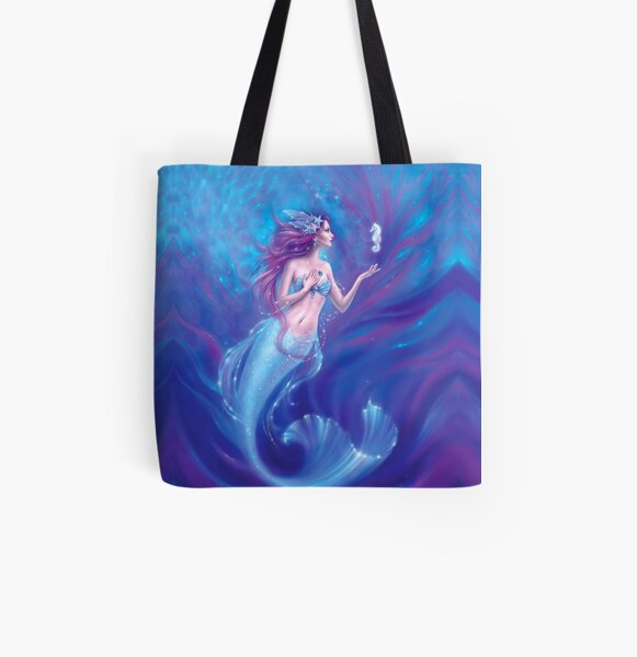 Coral All Over Print Tote Bag