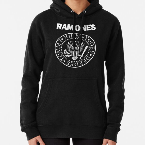Ramones (white distressed design) Pullover Hoodie