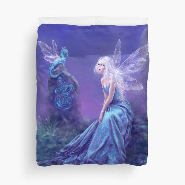 Luminescent Fairy & Dragon Art Duvet Cover