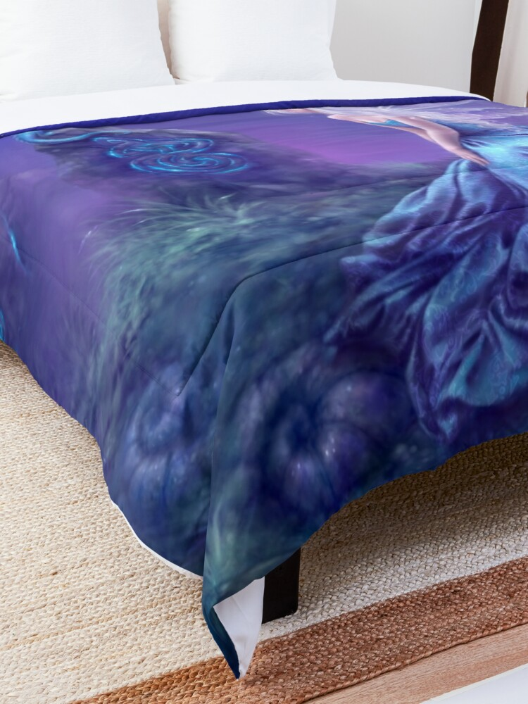 Alternate view of Luminescent Fairy & Dragon Art Comforter